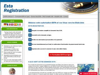 Demande officiel d'autorisation de voyage pour USA