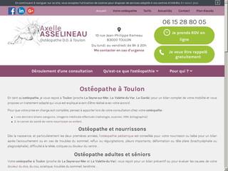 Ostéopathe mal de dos Toulon