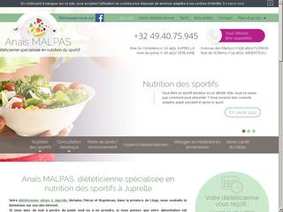 Diététicienne en nutrition sportive près de Liège, Anaïs Malpas