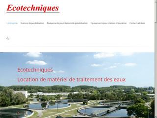 Ecotechniques est spécialisée dans le traitement des eaux usées