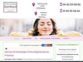 Kinésiologue à Paris 15ème, Françoise Gombault