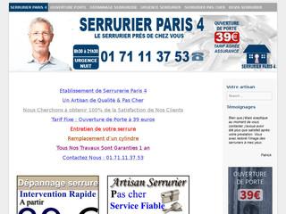 Serrurier Paris 4
