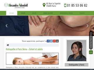 Ostéopathe D.O. à Paris, Alexandra Valendoff