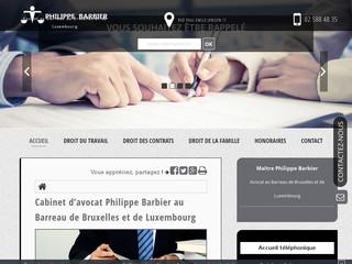 Avocat Philippe Barbier au Barreau de Bruxelles et de Luxembourg