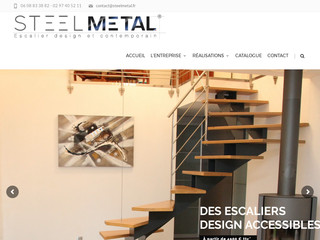 Steel Metal, métallerie-serrurerie : fabricant d'escaliers métal bois design en Bretagne