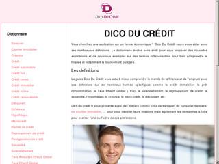 Dictionnaire des finances