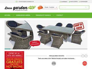 mobilier de jardin en résine tressée