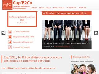 Cap'E2Co : N°1 à la prépa au concours des grandes écoles de commerce !