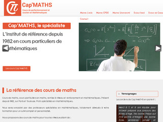 Cap'Maths - Soutien scolaire en maths à Toulouse, Paris, Lyon