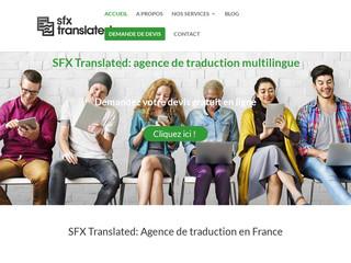 SFX Translated, votre agence de traduction à Paris
