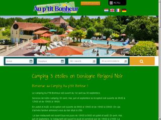 Camping Au P'tit Bonheur Perigord Noir