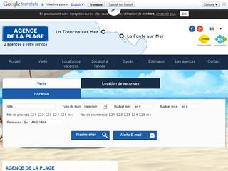 Agence de la plage en vendée