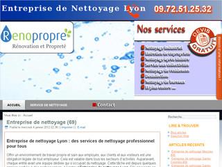 Nettoyage de bureaux, locaux, immeubles sur Lyon