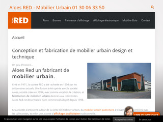 Mobilier urbain Aloes red