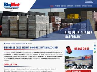 BigMat Ciney Condroz Matériaux : matériel pour la constuction et la rénovation