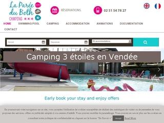 Location de camping 3 étoiles en Vendée avec piscine - La Parée du Both