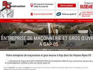 Construction : SAVY Construction à Pelleautier (05)