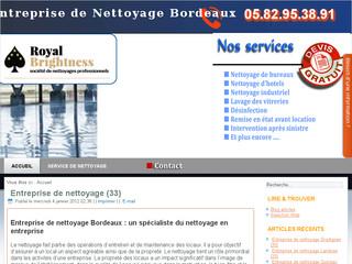 Service de nettoyage Bordeaux