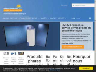 Solaire en ligne : panneaux et capteurs solaires thermiques