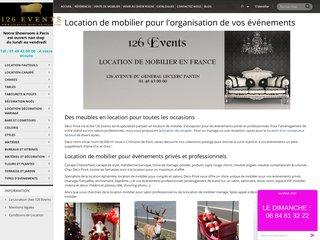 Location Mobilier Paris - Location de mobilier événementiel