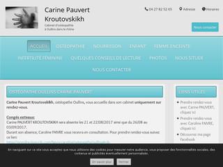 Carine PAUVERT, ostéopathe femme enceinte Lyon, vous reçoit