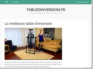 Guide d'achat et comparatif des meilleures tables d'inversions