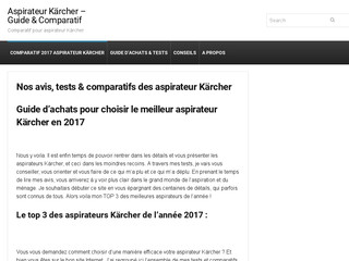 Tests aspirateur kärcher