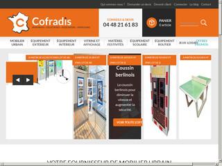 Cofradis Collectivités, la boutique en ligne du mobilier urbain