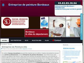 Entreprise de peinture Bordeaux
