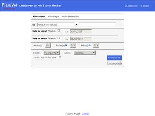 Flexivol, comparateur de billets d'avions à dates flexibles