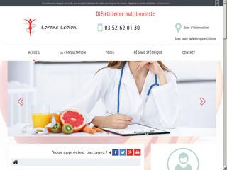 Diététicienne et nutritionniste à domicile, Lorane Leblon