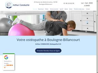 Des séances d'ostéopathie à Boulogne-Billancourt