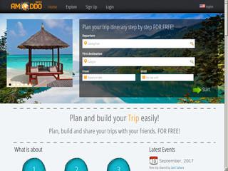 Amoddo Trip Planner : Planifiez et partagez vos voyages avec vos amis