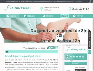 Jérémy Pudal, pédicure-podologue à Portets