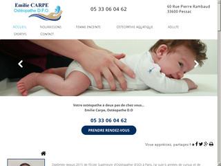 Ostéopathe pour nourrisson et enfant à Pessac, Emilie Carpe