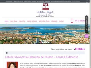 Cabinet d'avocat au Barreau de Toulon, Maître Delphine Huglo