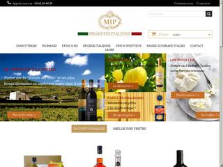 Un grand choix de produits italiens sur le site de MIP