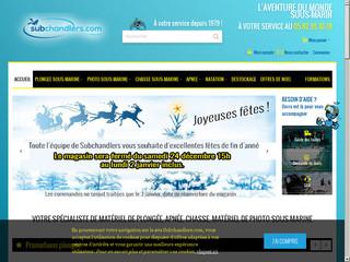 Subchandlers : le magasin de matériel de plongée