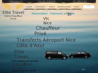 Elite travel vtc Nice: chauffeur privé