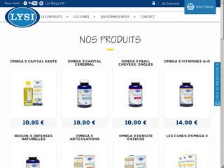 Lysi France, leader dans les compléments alimentaires - Oméga 3