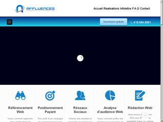 AFFLUENCES – Agence de référencement Québec, Agence Stratégies Web Québec
