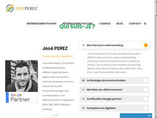 José PEREZ, spécialiste Google Adwords agréé