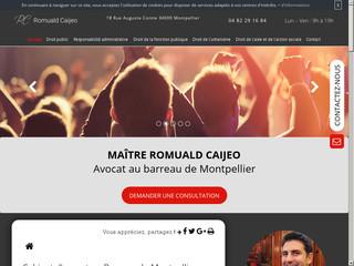 Avocat en droit public à Montpellier, Maître Romuald Caijeo