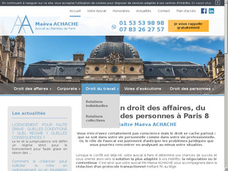Avocat droit des sociétés Paris 8 - Cabinet d'avocat Achache
