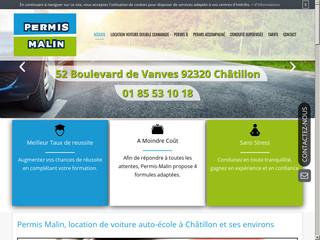 Voiture à double commande pour permis B à Châtillon