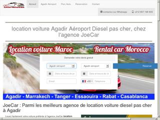location voiture agadir - Agence JoeCar aéroport diesel pas cher