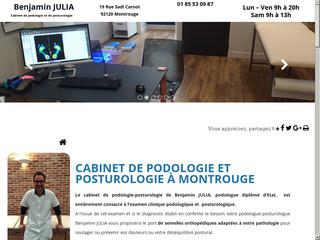 Podologue du sport à Montrouge, Benjamin Julia