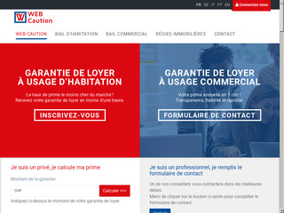 Webcaution - Caution de loyer en Suisse