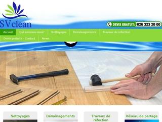 SV Clean, entreprise Suisse d'entretien et déménagements