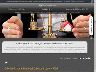 Avocat droit de la famille - Divorce Lyon : Maître Dindoyal-Creusot